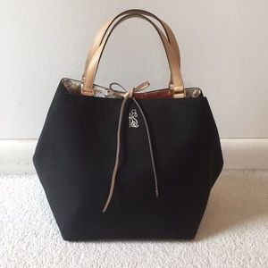 Kate Spade totes black fabric bag